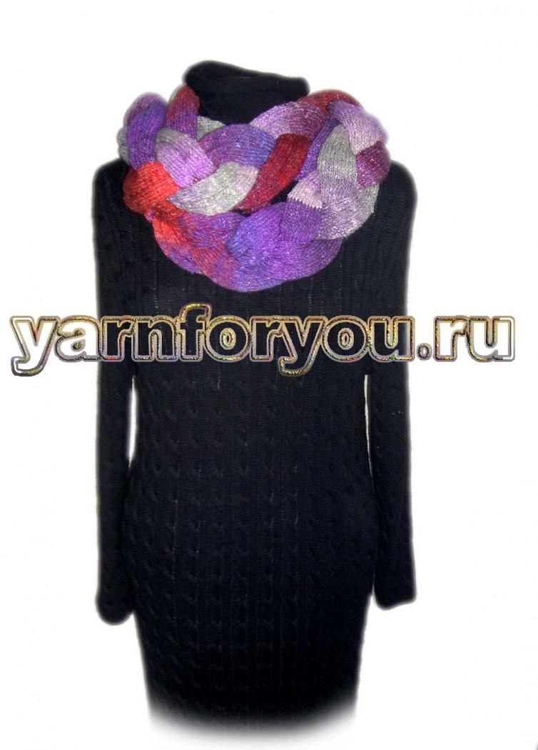 как завязать шарф плетенка