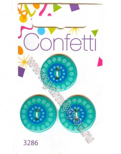 Button Fashion Пуговицы Confetti 3286