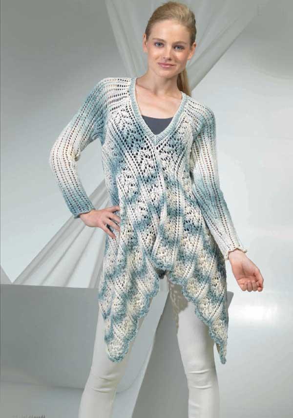 Женский пуловер из пряжи  Lang Yarns. Sol Degrade